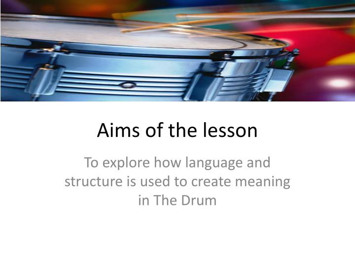 aims of the lesson n.