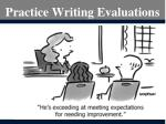 practice writing evaluations