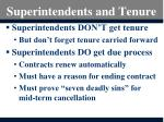 superintendents and tenure