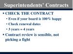 superintendents contracts