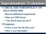 superintendents evaluations
