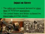 impact on slavery