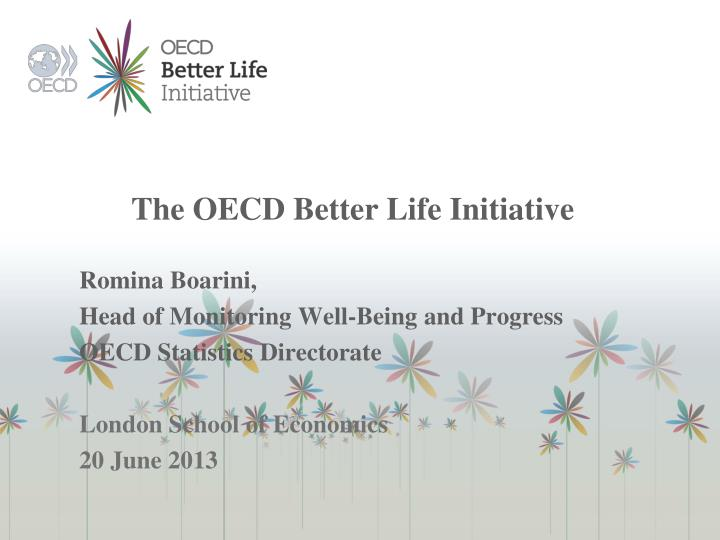 the oecd better life initiative n.