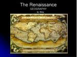 the renaissance geography