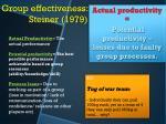 group effectiveness steiner 1979