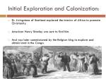 initial exploration and colonization