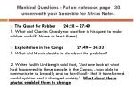mankind questions put on notebook page 130 underneath your scramble for africa notes