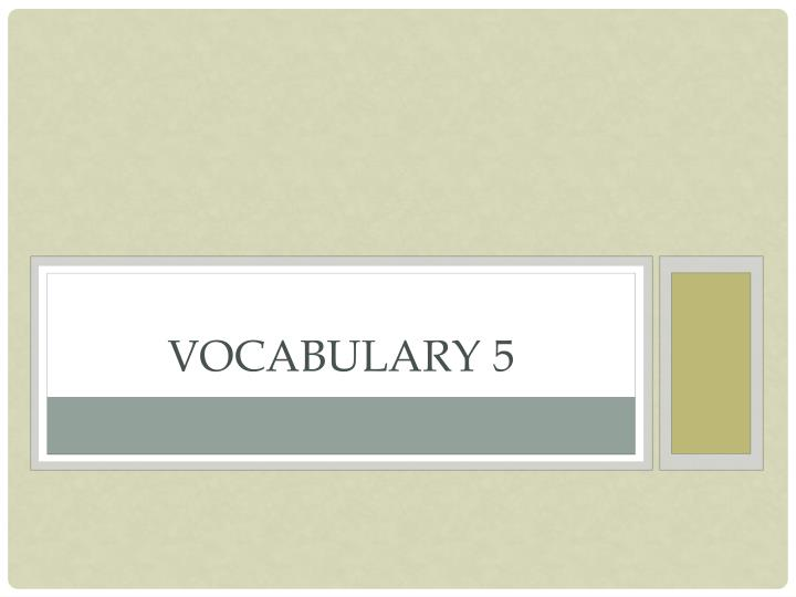 vocabulary 5 n.