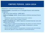empire period 1804 1814