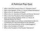 a political pop quiz