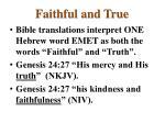 faithful and true