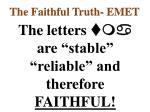 the faithful truth emet3