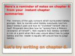 let s try writing on chapter 6