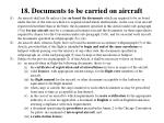 18 documents to be carried on aircraft