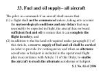 33 fuel and oil supply all aircraft