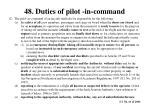 48 duties of pilot in command