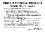 integrated aeronautical information package iaip cont d