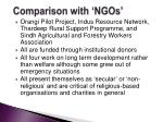 comparison with ngos