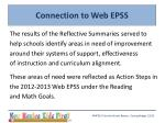 connection to web epss