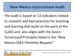 new mexico instructional audit1
