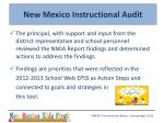 new mexico instructional audit2