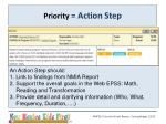 priority action step1
