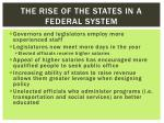 the rise of the states in a federal system