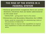 the rise of the states in a federal system1