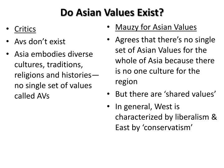 Do asian values exist