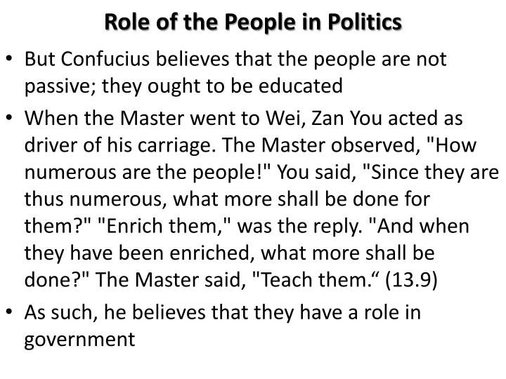 Role of the People in Politics