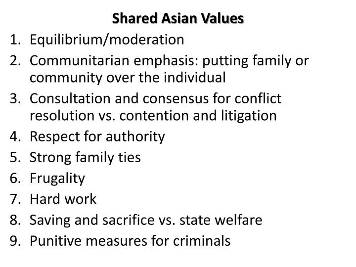 Shared asian values