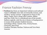 france fashion frenzy