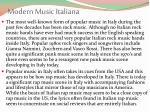 modern music italiana