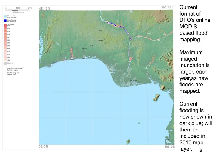 Current format of  DFO's online MODIS-based flood mapping.