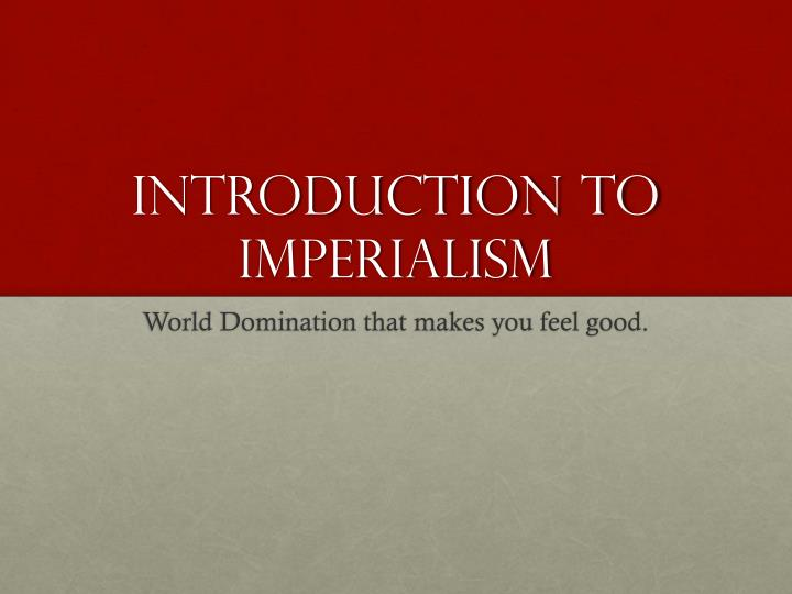introduction to imperialism n.