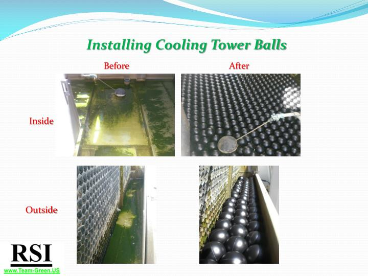Installing Cooling Tower Balls