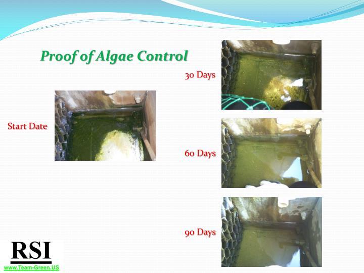 Proof of Algae Control