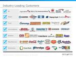 industry leading customers