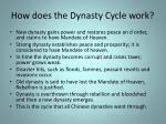how does the dynasty cycle work