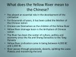 what does the yellow river mean to the chinese