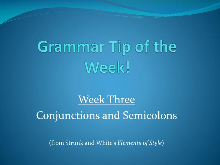 grammar tip of the week n.