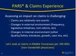 pars claims experience1