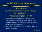 pars claims experience2