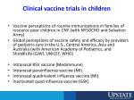 clinical vaccine trials in children