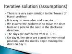 iterative solution assumptions