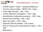 outstanding tasks summary