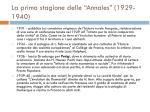 la prima stagione delle annales 1929 1940