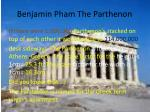 benjamin pham the parthenon