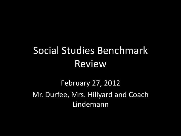 social studies benchmark review n.