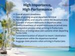 high importance high performance